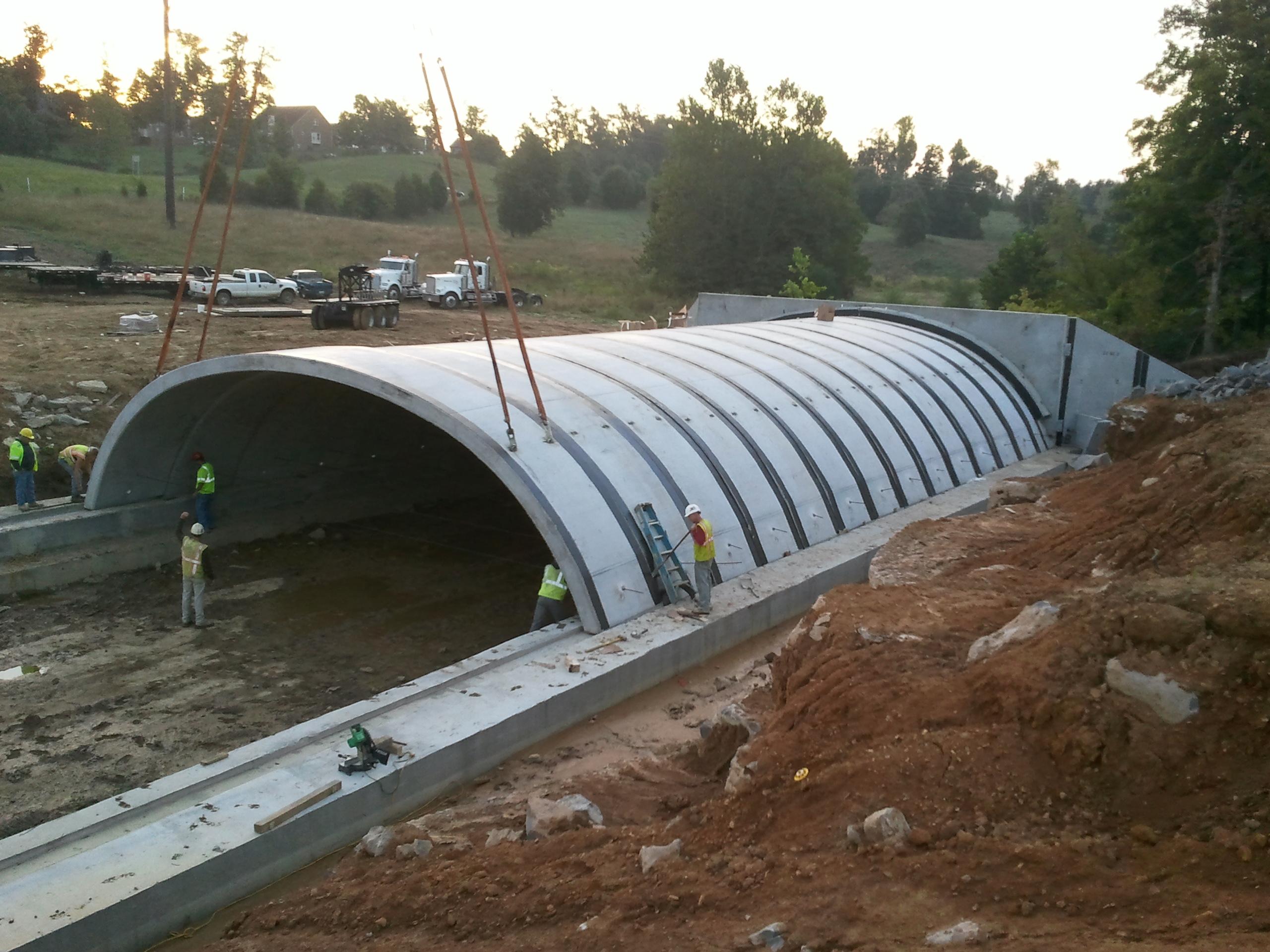 Precast Concrete Arches : Elizabethtown to radcliff connector buried arch
