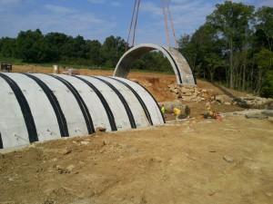Versa Series multiple-radius precast concrete arch installation