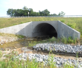 Precast Concrete arch bridge extension