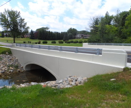 Buried Bridge Precast Concrete Arch Beavercreek, Ohio