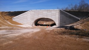 TWIN-LEAF PRECAST ARCH UNDERPASS